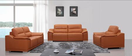 VIG Furniture VGKNK8463ITLORG Modern Leather Living Room Set