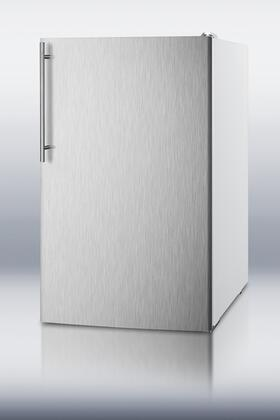 "Summit FS407LXBISSHV 20"" Medical Series Counter Depth Freezer with 2.8 cu. ft. Capacity in Stainless Steel"