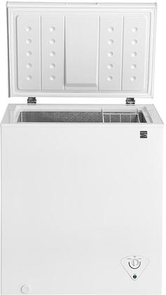 Kenmore 46-1702 Chest Freezer with Front-Mounted Temperature Controls, Power Indicator Light, Removable Wire Basket and Defrost Drain in White