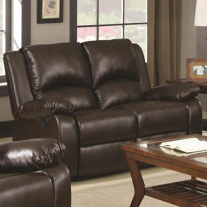 Coaster 600972 Boston Series Vinyl Reclining with Wood Frame Loveseat