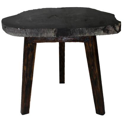 New Pacific Direct Template: Zandra Collection 8600003 Petrified Side Table with Washed Black Legs in Natural