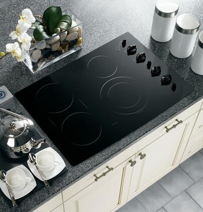 """GE Profile PP932BMBB 30"""" Electric Cooktop"""