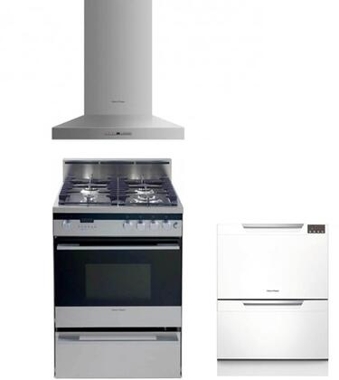 Fisher Paykel FP3PC24DFWMSSKIT3KIT1 Kitchen Appliance Packag