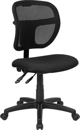 "Flash Furniture WL-A7671SYG-XX-GG 17.5"" Mid-Back Mesh Task Chair with 3"" Thick Foam Padded Seat, Built-In Lumbar Support, Pneumatic Seat Height Adjustment, Heavy Duty Nylon Base, and Dual Wheel Casters"