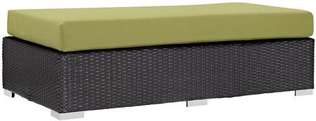 Modway EEI1847EXPPER Convene Series Fabric Metal Frame Ottoman