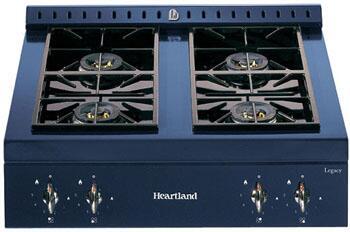 Heartland 380006NG  Gas Sealed Burner Style Cooktop, in Black
