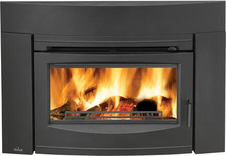 Napoleon EPI3 Oakdale Cast Iron EPA Certified Wood Fireplace Insert Up to 55,000 BTUs complete with Cast Iron Surround and Door -