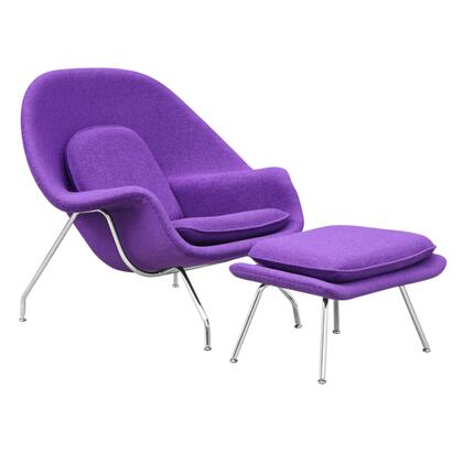 Fine Mod Imports FMI1134PURPLE Woom Series Armchair Fabric: 100% Wool Fiber Glass Frame Accent Chair