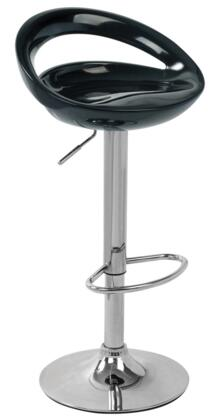 """LumiSource Swizzle BS-TW-SWZL 30"""" - 39"""" Barstool with Hydraulic Height Adjustment, ABS Seat and Chrome Base in"""