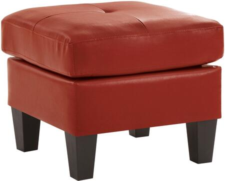 Glory Furniture G465O Newbury Series Contemporary Faux Leather Ottoman