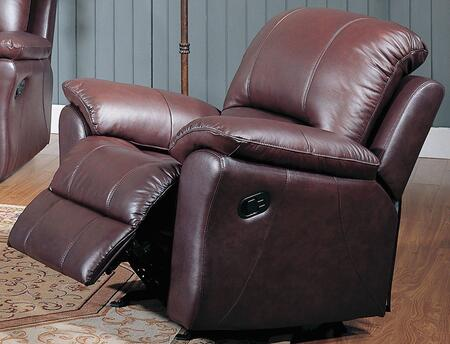 Yuan Tai KE8896CBR Kent Series Leather Wood Frame  Recliners
