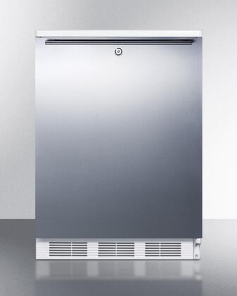 "AccuCold BI540LSSXX 24"" Dual Evaporator Undercounter Refrigerator with 5.1 cu. ft. Capacity, Cycle Defrost, 2 Wire Shelves, Cycle Defrost, Lock, and Adjustable Thermostat: Stainless Steel"