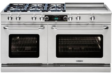 "Capital CSB606GGN 60"" Gas Freestanding Range"