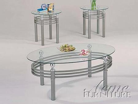 "Acme Furniture 18452 48"" Contemporary Living Room Table Set"