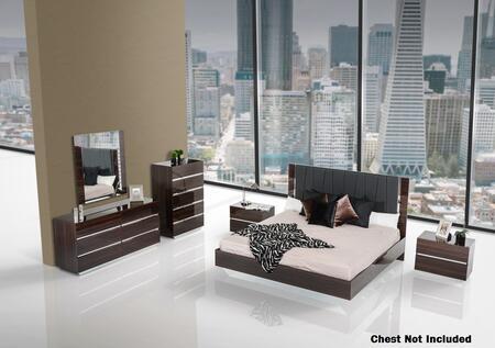 VIG Furniture VGACCLUXOREBONYEK Luxor Series 5 Piece Bedroom Set