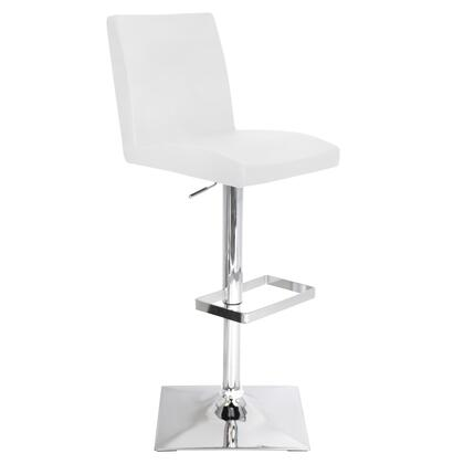 "LumiSource Captain BS-TW-CAPTN 37"" - 45"" Barstool with 360-Degree Swivel, Stitched Details and Leatherette in"