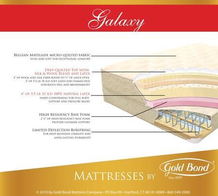 Gold Bond 869GALAXYF Natural Latex Series Full Size Standard Mattress