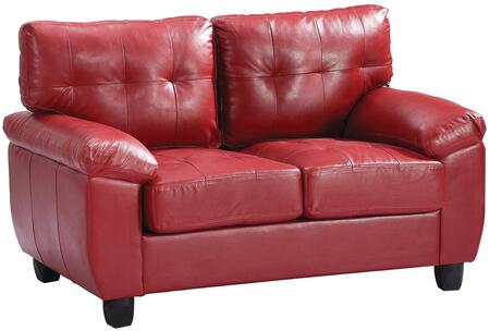 Glory Furniture G909AL Faux Leather Stationary Loveseat