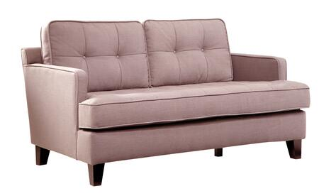 Armen Living LC21512X Eden Loveseat with Button-tufting Detail, Soft Chenille Fabric and Tailored with Crisp Piping in