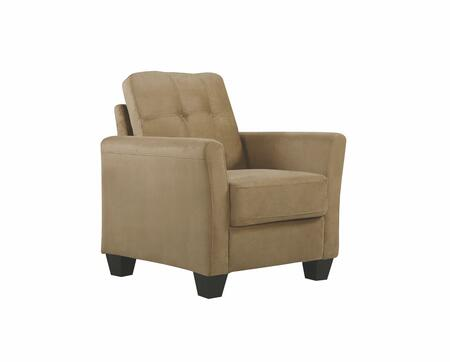 Glory Furniture G567C G560 Series Suede Armchair in Mocha