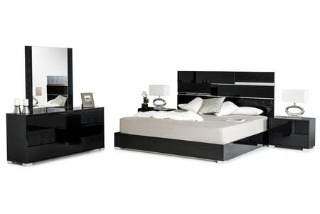 VIG Furniture VGACANCONASETBLKEK Modrest Ancona Series 5 Piece Bedroom Set