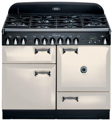 "AGA ALEG44DFIVY 44"" Legacy Series Dual Fuel Freestanding Range with Sealed Burner Cooktop, 2.4 cu. ft. Primary Oven Capacity, Storage"