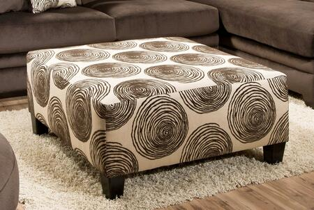 Chelsea Home Furniture 73864232GENS Rayna Ottoman with 1.8 Dacron Wrapped Foam Cores, Sinuous Springs, Solid Hardwoods and Plywoods in