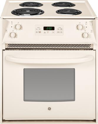 "GE JM250DFCC 27"" Drop-In Electric Range with Coil Cooktop 3.0 cu. ft. Primary Oven Capacity"