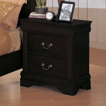 Yuan Tai 6703NBK Louis Philippe Series Rectangular Wood Night Stand