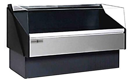 Hydra-Kool KPMOFxR Open Front Deli Case with Cooling BTU, Tempered Front Glass, in Black