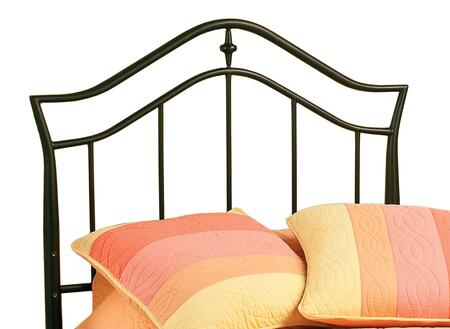 Hillsdale Furniture 1546H Imperial Open-Frame Headboard with Rails Included, Arched Top Rail, Shaped Castings and Tubular Steel Construction in Twinkle Black Color