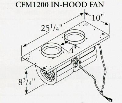 Prizer Hoods CFM1200INHOOD