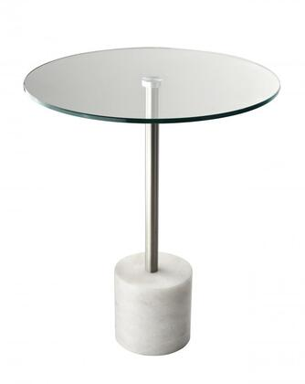 Adesso HX52820 Blythe End Table, Steel Marble Finish