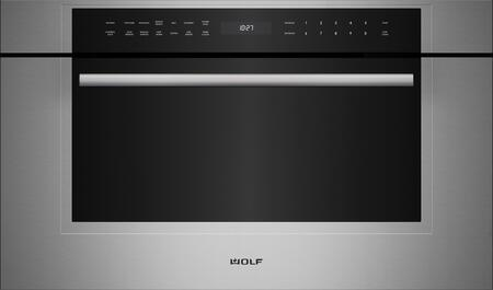 """Wolf MDD30 30"""" M Series Dropdown Door Microwave Oven with 1.6 cu. ft. Capacity, 900 Watts Power, Quick-Start Controls, Keep Warm Mode, and Gourmet Mode"""