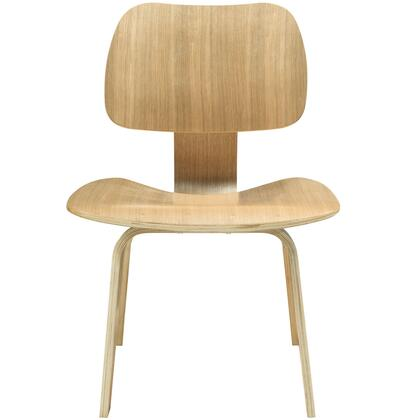 """Modway EEI-620 Fathom 17"""" Dining Chair with Five Layered Construction, Plywood with Oak Effect Veneer, and Seat Angled for Maximal Comfort"""