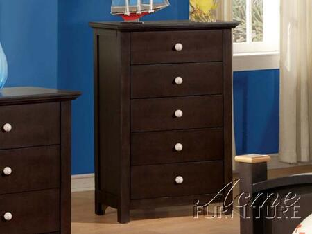Acme Furniture 119XC All Star X 5 Drawer Chest in Espresso
