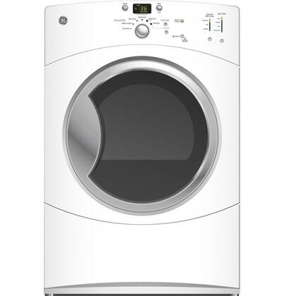 "GE GFDN110GLWW 27"" Gas  Gas Dryer with  4 Temperature Settings 