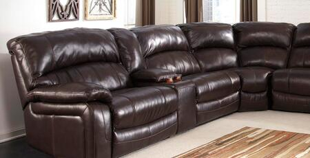 Signature Design by Ashley Damacio U9820X-58-46-77-19-57-62 6-Piece Sectional Sofa with Left Arm Facing Power Recliner, Armless Chair, Wedge, Armless Recliner, Console and Right Arm Facing Power Recliner in