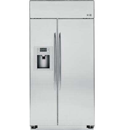GE Profile PSB48YSXSS Profile Series Side by Side Refrigerator with 29.5 cu. ft. Capacity in Stainless Steel