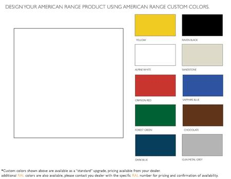 """American Range ARR60CX Factory Installed RAL Range Color Kit 60"""" 2 Door and 1 Kick Plate In"""