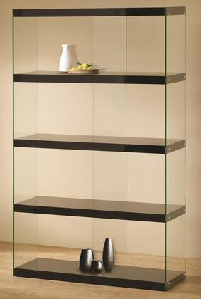 Coaster 800305Bookcases Series Glass/Wood 4 Shelves Bookcase