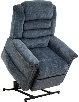 "Catnapper Soother Collection 4825 36"" Power Lift Chaise Recliner with Deluxe Heat and Massage, Waterfall Back, Steel Seat Box, Panel Arms, Full Lay-Out Comfort and Woven Velvet Upholstery"