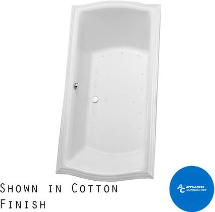 Toto ABR78401N Clayton Series Drop-In Airbath Tub with Acrylic Construction and Slip-Resistant Surface, Cotton Finish