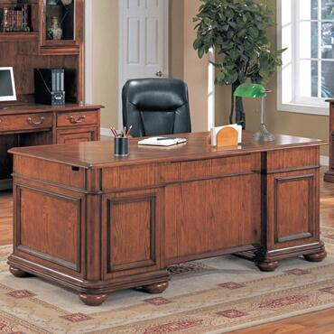 Yuan Tai VS555D Litchfield Series Executive Desk  Desk
