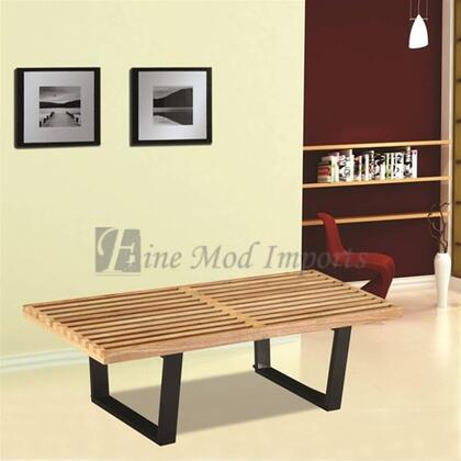 Fine Mod Imports FMI115260NATURAL Accent Armless Metal Bench