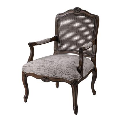 Sterling 6071398 Marianne Series Armchair Fabric Wood Frame Accent Chair