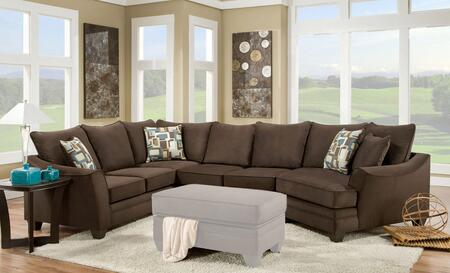 Chelsea Home Furniture 183810 Cupertino 3 PC Sectional with Left Arm Facing Corner Sofa, Armless Loveseat, Right Arm Facing Cuddler, Toss Pillows and Fabric Upholstery in