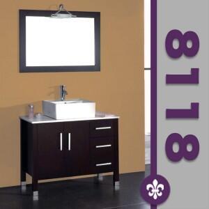 """Cambridge 8118X 40"""" Espresso Bathroom Vanity Set with a Faucet"""