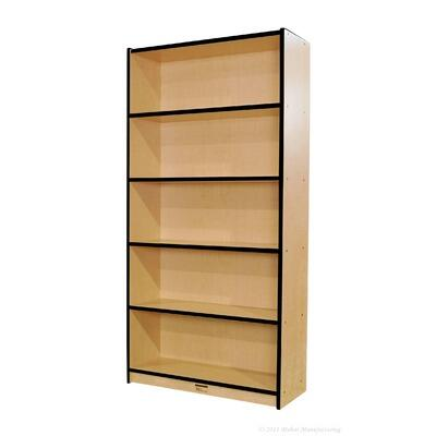 Mahar M72DCASEBR Wood 5 Shelves Bookcase