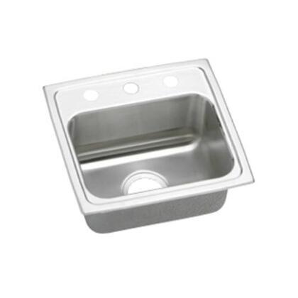 """Elkay LRAD1716650 17"""" Top Mount Self-Rim Single Bowl ADA Compliant 18-Gauge Stainless Steel Sink With"""
